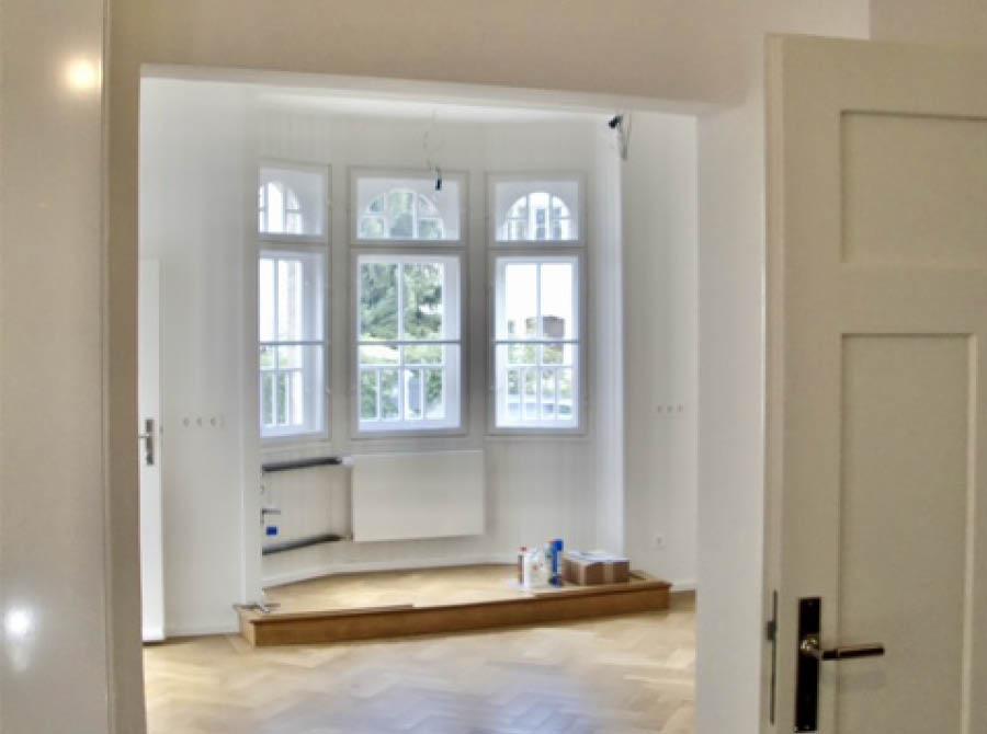 Restaurierung von Fenstern und Türen